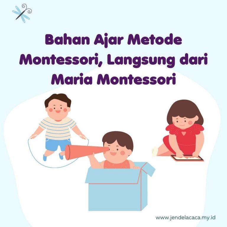 bahan ajar metode montessori